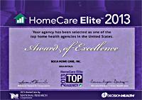 Home Care Elite Award 2013